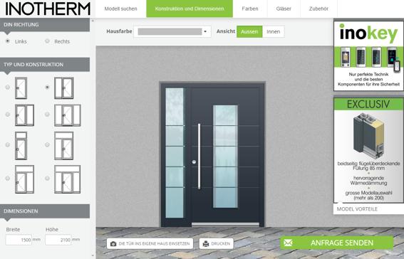 Bild: Inotherm Türen Konfigurator